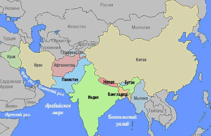 Регион на карте
