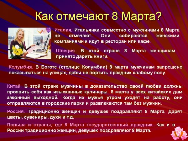 праздник 8 марта история возникновения квартир Трудовой