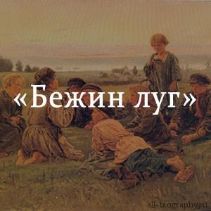 Краткое содержание «Бежин луг»