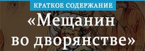 Краткое содержание «Краткое содержание «Мещанин во дворянстве»»