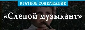 Краткое содержание «Краткое содержание «Слепой музыкант»»