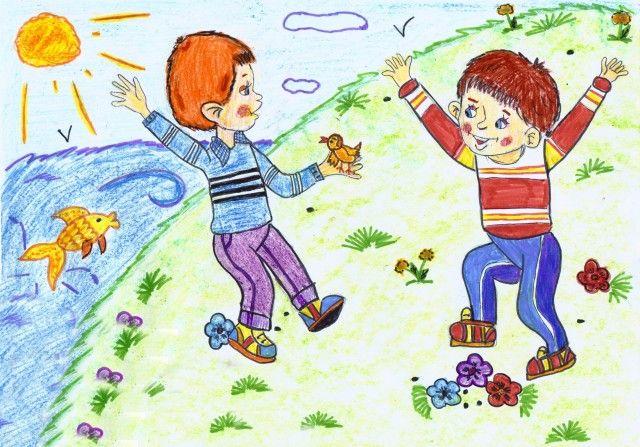 Картинки для детей веселая семейка