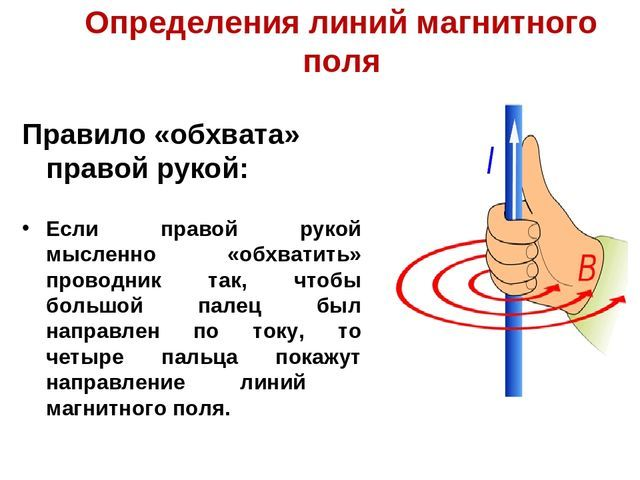 Правило обхвата правой рукой