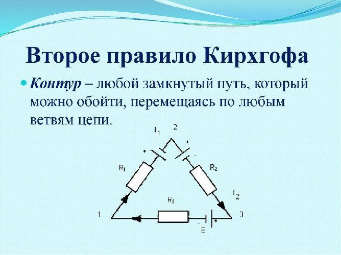 Второе правило Кирхгофа