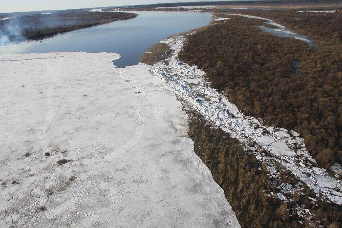 Ледовый затор в Томске