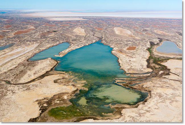 Пересыхающее озеро Эйр