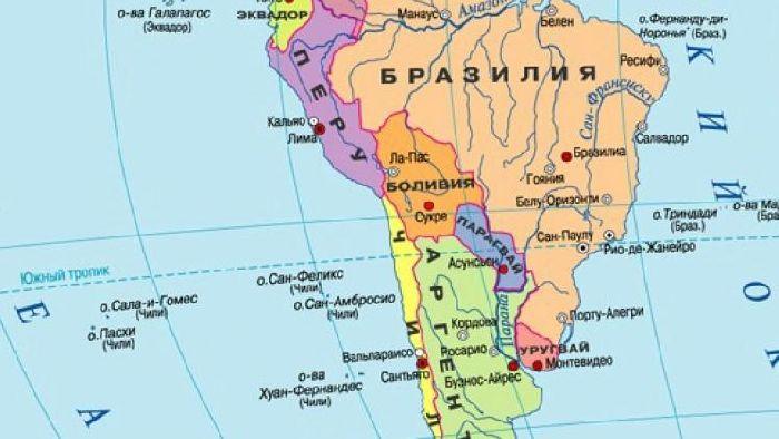 Латинская Америка на карте
