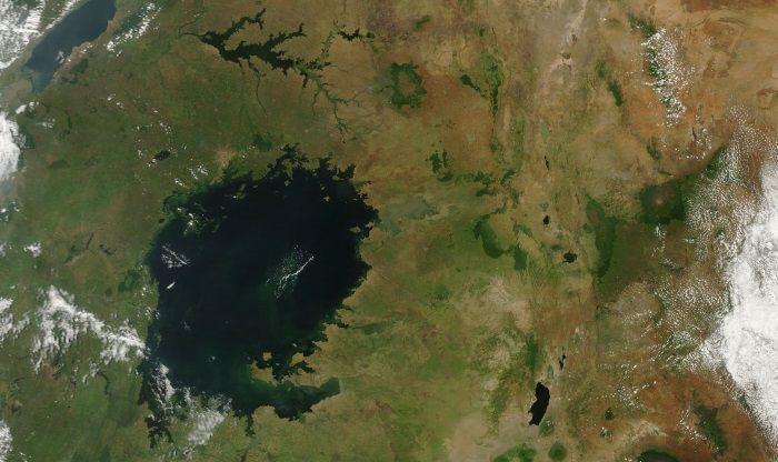 Озеро Виктория, вид из космоса