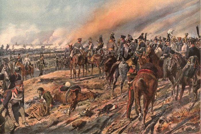 Союзные монархи во время сражения при Лейпциге. Р. Кнотель. Конец XIX в.