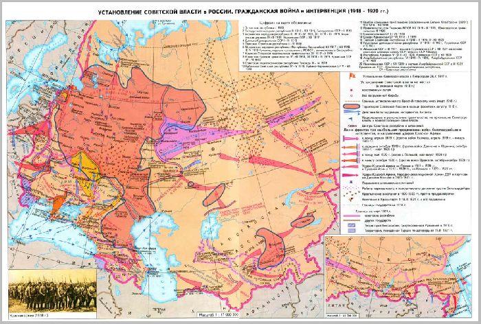 Гражданская война карта