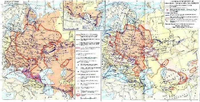 Карта гражданской войны в России