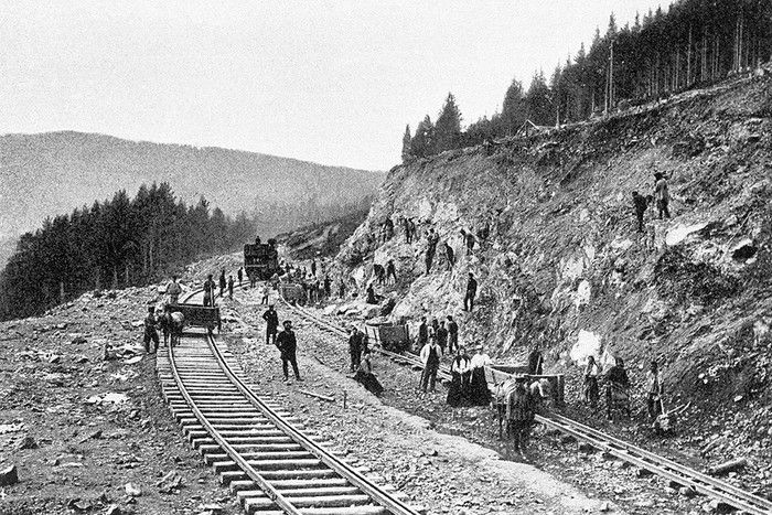 Строительство железной дороги в Российской империи 20 век