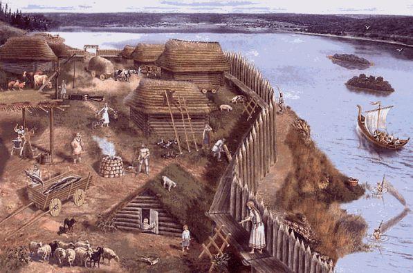Древние поселения у рек