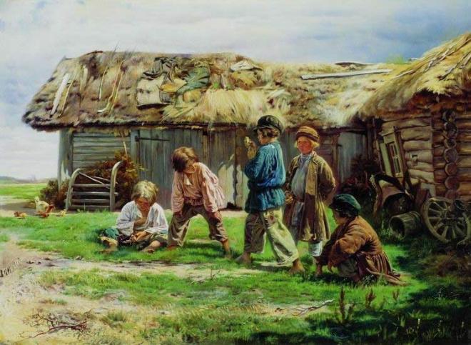 Картинки по запросу картина крестьянские дети