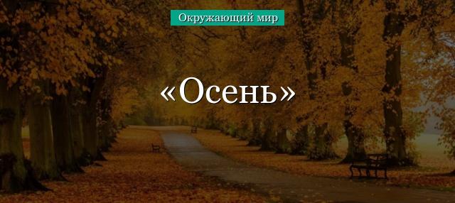 Доклад про осень окружающий мир 7445