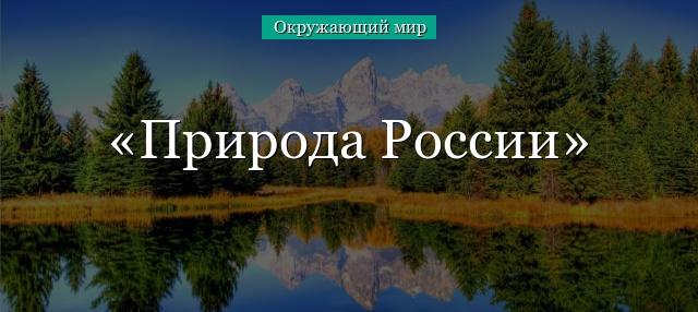Реферат по теме природа россии 191