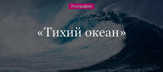 Второе место по площади занимает океан