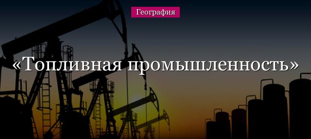 Топливная промышленность россии доклад 3232