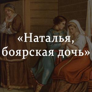 Краткое содержание «Наталья, боярская дочь»